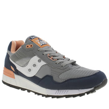 Saucony Grey & Navy Shadow 5000 Trainers