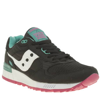 Saucony Black & Green Shadow 5000 Trainers
