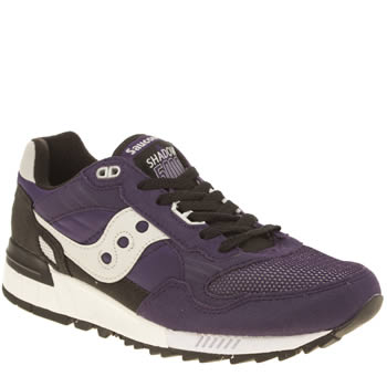 Mens Saucony Dark Purple Shadow 5000 Trainers