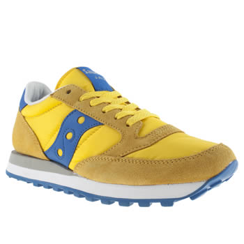 mens saucony yellow jazz original trainers