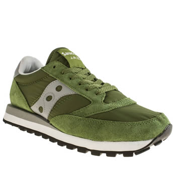 Mens Saucony Green Jazz Original Trainers