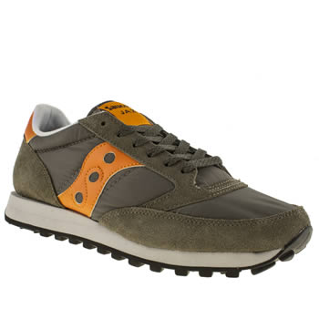 mens saucony dark green jazz original trainers