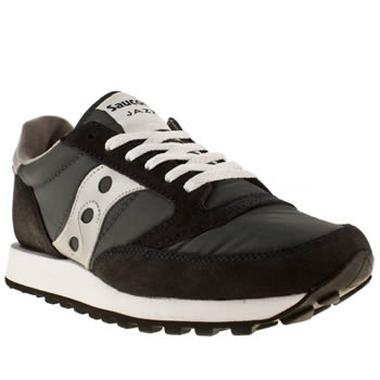 mens saucony navy & white jazz original trainers