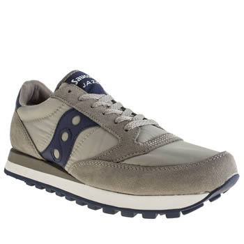 Mens Saucony Light Grey Jazz Original Trainers