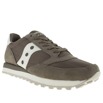 Mens Saucony Grey Jazz Original Trainers