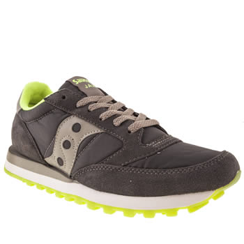 mens saucony dark grey jazz original trainers