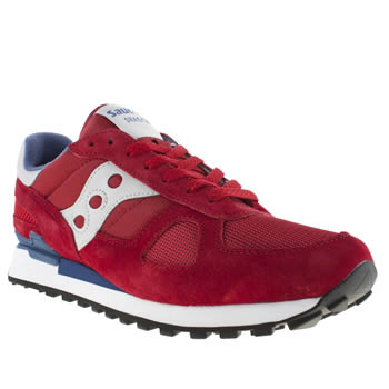 mens saucony red shadow original trainers