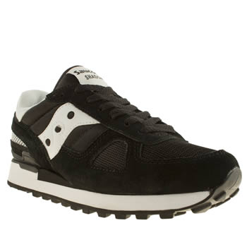 Mens Saucony Black & White Shadow Original Trainers