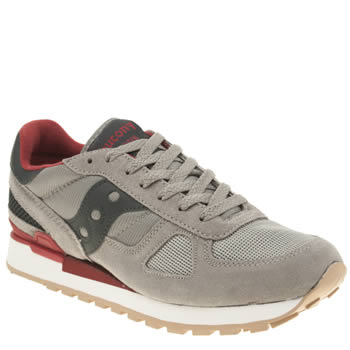 Mens Saucony Grey Shadow Original Trainers