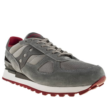 Mens Saucony Dark Grey Shadow Original Trainers