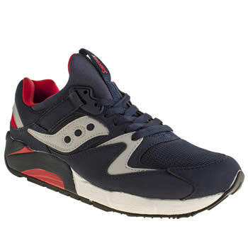 Mens Saucony Navy Grid 9000 Trainers