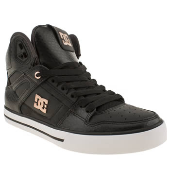 mens dc shoes black spartan hi trainers