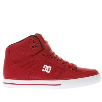 Dc Shoes Red Spartan High Wc Tx Trainers