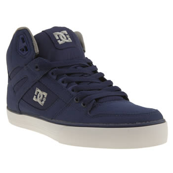 Mens Dc Shoes Blue Spartan High Tx Trainers