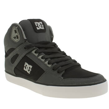 Mens Dc Shoes Black & Grey Spartan High Wc Trainers