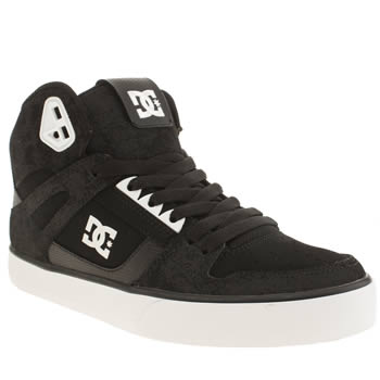 Mens Dc Shoes Black & White Spartan High Wc Trainers