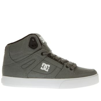 Dc Shoes Dark Grey Spartan High Wc Tx Mens Trainers