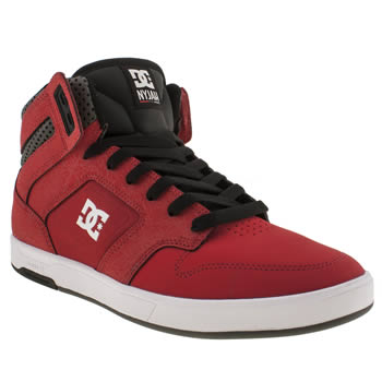 mens dc shoes red nyjah hi trainers