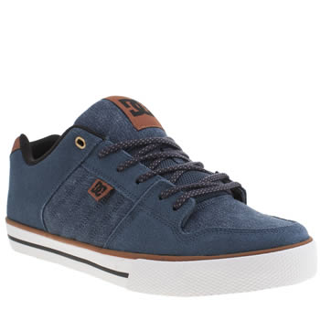 Mens Dc Shoes Navy Course Xe Trainers