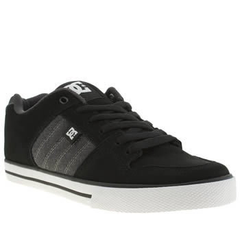 mens dc shoes black & grey course trainers