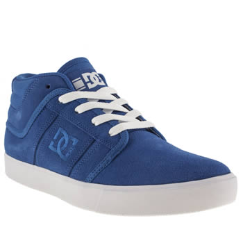 mens dc shoes blue rd grand mid trainers