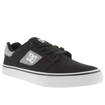 Mens Dc Shoes Black & Grey Bridge Tx Trainers