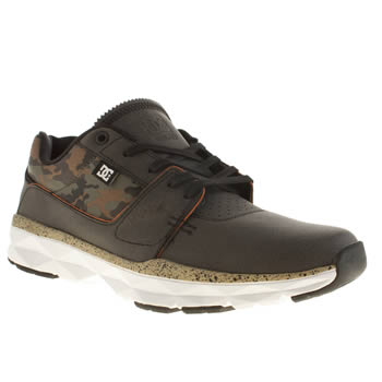 mens dc shoes black player trainers