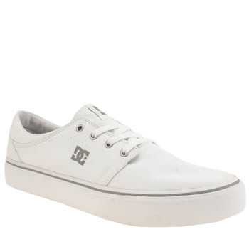 Dc Shoes White Trase Tx Trainers