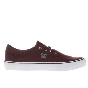 Dc Shoes Burgundy Trase Tx Mens Trainers