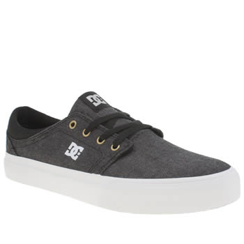 Dc Shoes Black & White Trase Tx Se Trainers