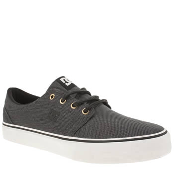 Dc Shoes Grey & Black Trase Tx Se Trainers