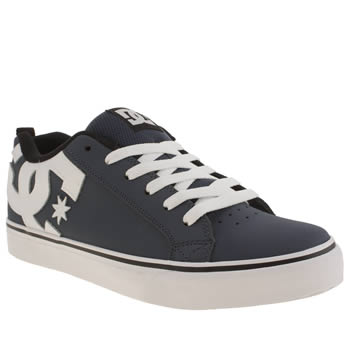 Dc Shoes Navy & White Court Vulc Trainers