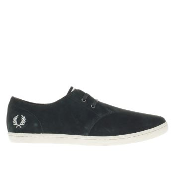 FRED PERRY DARK GREEN BYRON LOW TRAINERS