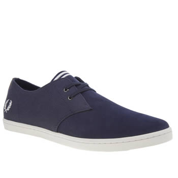 Fred Perry Navy Byron Low Trainers