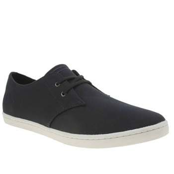 Mens Fred Perry Navy Byron Low Twill Trainers