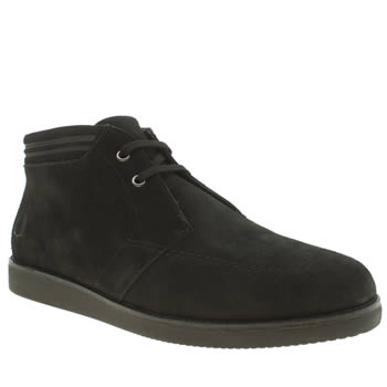 Mens Fred Perry Black Southall Mid Trainers