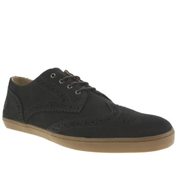 Mens Fred Perry Navy Ealing Suede Shoes