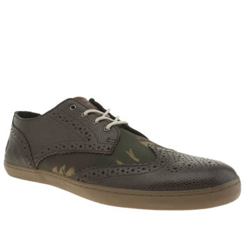 Mens Fred Perry Dark Brown Ealing Trainers