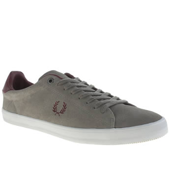 Mens Fred Perry Grey Howells Suede Trainers