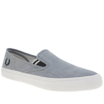 Mens Fred Perry Navy Turner Slip On Trainers