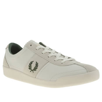 Mens Fred Perry White & Beige Stockport Trainers