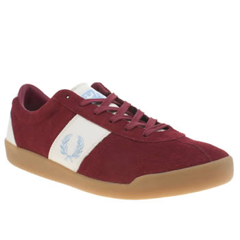 Mens Fred Perry Burgundy Stockport Trainers