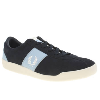 Mens Fred Perry Navy & Pl Blue Stockport Trainers