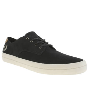 Mens Fred Perry Navy Savitt Trainers