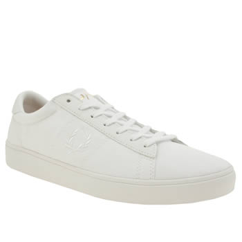 Mens Fred Perry White Spencer Trainers