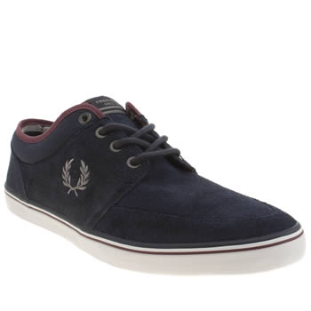 Mens Fred Perry Navy Stratford Trainers