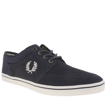 Mens Fred Perry Navy & White Stratford Trainers