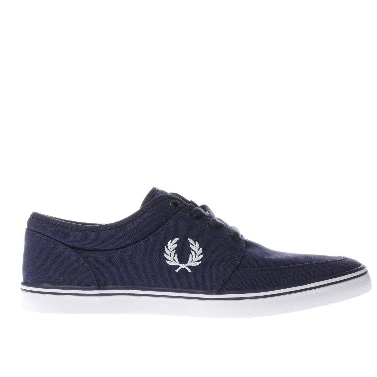 fred perry navy & white stratford trainers