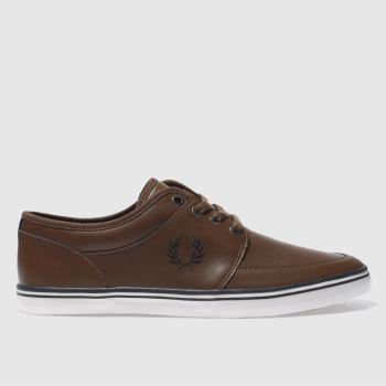 Fred Perry Brown Stratford Mens Trainers