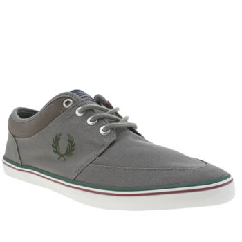 Mens Fred Perry Grey Stratford Trainers